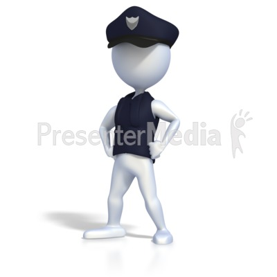 police officer strong pose - business and finance - great clipart, Modern powerpoint