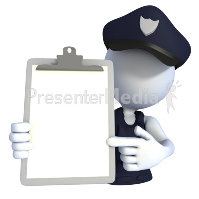 Police officer clipboard signs and symbols great clipart for police officer clipboard powerpoint clip art toneelgroepblik Image collections
