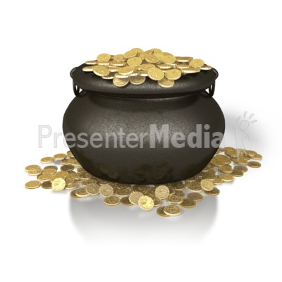 Pot Of Gold PowerPoint Clip Art
