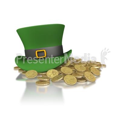 Irish Hat And Gold PowerPoint Clip Art