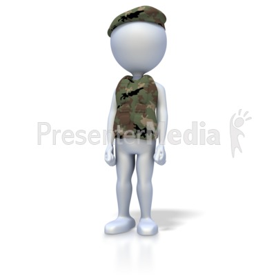 Military Stand At Attention PowerPoint Clip Art