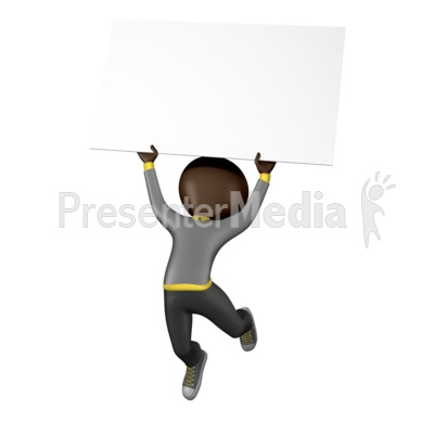 Stick Figure Jump Sign PowerPoint Clip Art