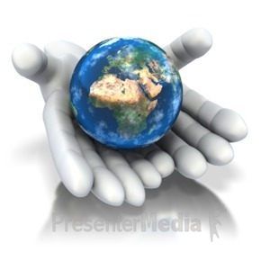 ID# 1940 - World In Hands  - Presentation Clipart