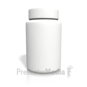ID# 1941 - Blank White Bottle - Presentation Clipart