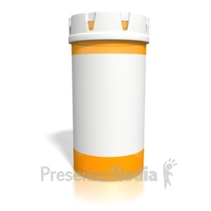 ID# 1944 - Blank Orange Pill Bottle - Presentation Clipart