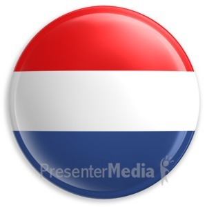 ID# 1976 - Badge Button Blank Red White Blue - Presentation Clipart