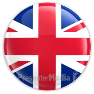 ID# 1991 - Badge of United Kingdom Flag - Presentation Clipart