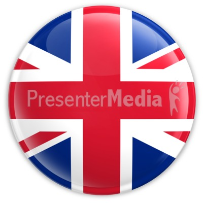 Badge of United Kingdom Flag PowerPoint Clip Art