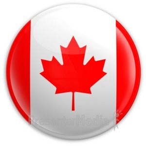 ID# 1996 - Badge of The Canadian Flag - Presentation Clipart
