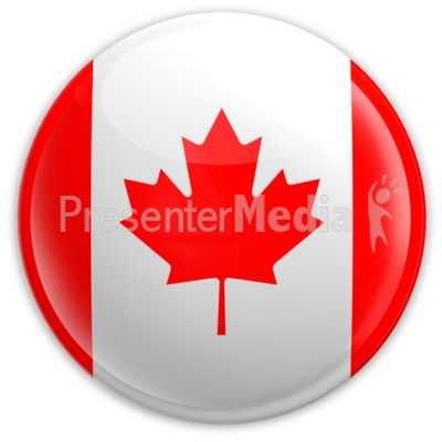 Badge of The Canadian Flag PowerPoint Clip Art