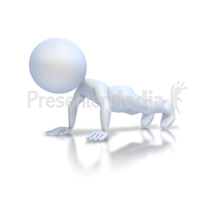 Stick Figure Push Up PowerPoint Clip Art