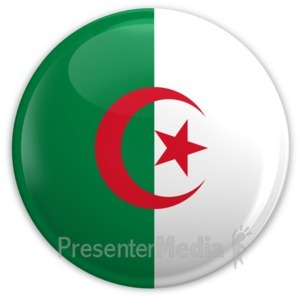 ID# 2022 - Badge of the Algerian Flag - Presentation Clipart