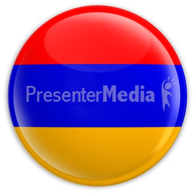 Badge of the Armenian Flag PowerPoint Clip Art