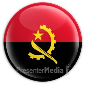 ID# 2025 - Badge of the Angolan Flag - Presentation Clipart