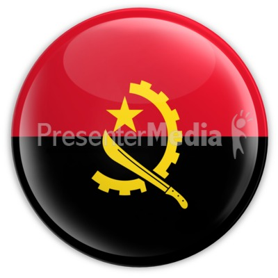 Badge of the Angolan Flag PowerPoint Clip Art