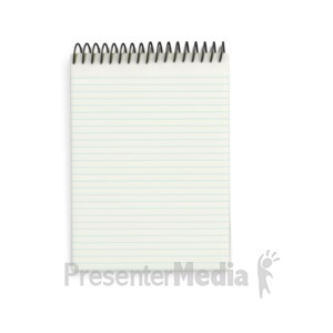 ID# 2027 - Notebook Pad - Presentation Clipart
