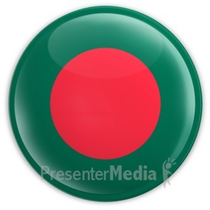 ID# 2032 - Badge of the Bangladesh Flag - Presentation Clipart