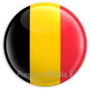 ID# 2033 - Badge of the Belgium Flag - Presentation Clipart