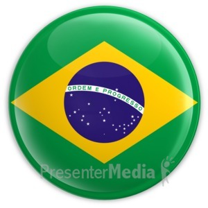 ID# 2035 - Badge of the Brazilian Flag - Presentation Clipart