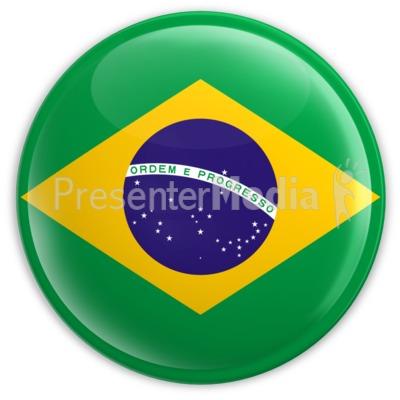 brazilian flag wave - a powerpoint template from presentermedia, Presentation templates