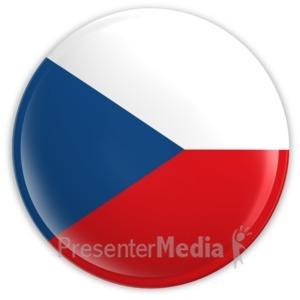ID# 2039 - Badge of the Czech Republic Flag - Presentation Clipart