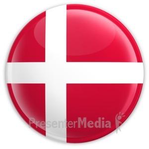 ID# 2040 - Badge of the Denmark Flag - Presentation Clipart
