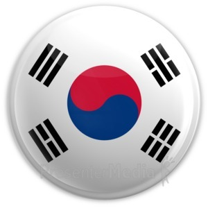 ID# 2042 - Badge of the South Korean Flag - Presentation Clipart