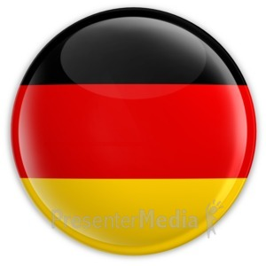 ID# 2056 - Badge of the German Flag - Presentation Clipart