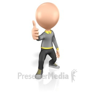 ID# 2060 - Stick Figure Thumbs Up - Presentation Clipart