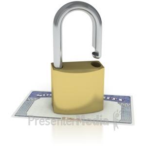 ID# 2071 - Social Security Unlocked  - Presentation Clipart