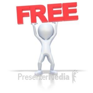 ID# 2095 - Stick Figure Lifting Free - Presentation Clipart