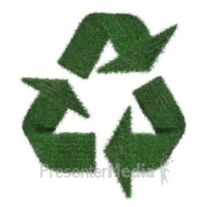 ID# 2097 - Grass Recycle Symbol - Presentation Clipart