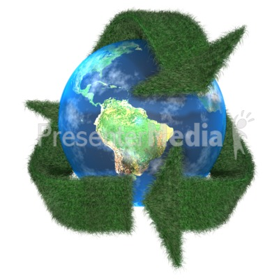 Grass Earth Recycle Symbol PowerPoint Clip Art