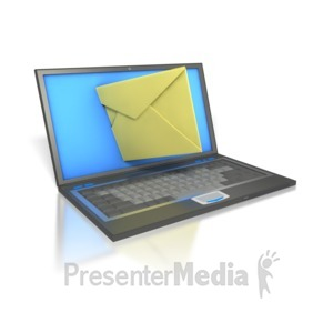 ID# 2103 - Laptop Internet Mail  - Presentation Clipart