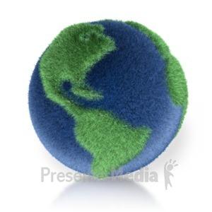 ID# 2112 - Grassy 3D Earth - Presentation Clipart