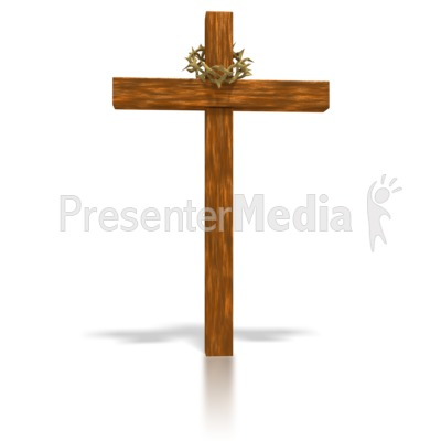wooden cross and crown presentation clipart great clipart for rh presentermedia com wooden cross clip art free wooden cross clipart free
