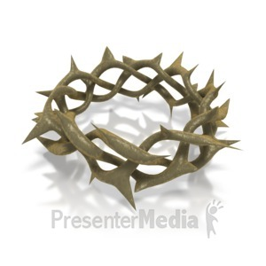 ID# 2120 - Crown Of Thorns - Presentation Clipart