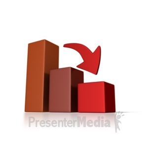 ID# 2123 - Graph Down Trend - Presentation Clipart