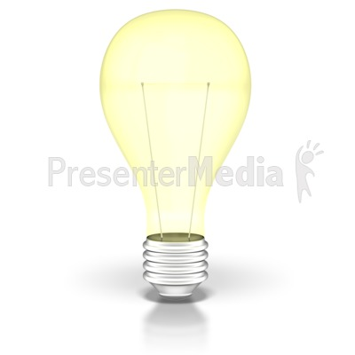 Light Bulb On  PowerPoint Clip Art