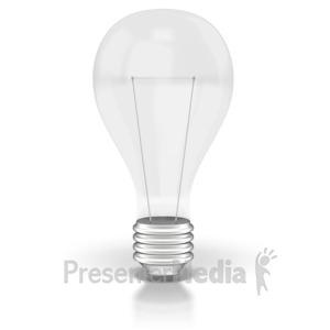 ID# 2132 - Light Bulb Off  - Presentation Clipart