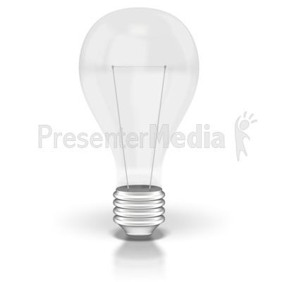 Light Bulb Off  PowerPoint Clip Art