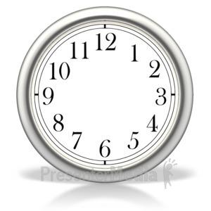 ID# 2134 - Blank Clock - Presentation Clipart