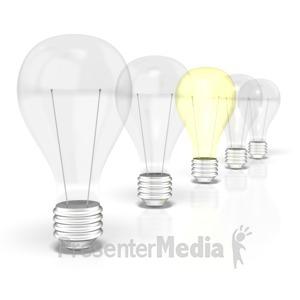 ID# 2138 - Light Bulb Row  - Presentation Clipart