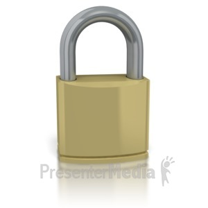 ID# 2146 - Secure Lock  - Presentation Clipart