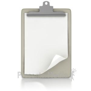 ID# 2152 - Blank Clipboard - Presentation Clipart