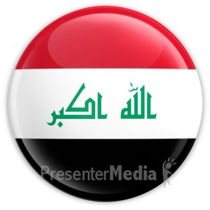 ID# 2178 - Badge of the Flag of Iraq - Presentation Clipart