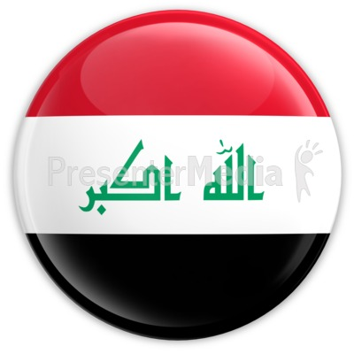 Badge of the Flag of Iraq PowerPoint Clip Art