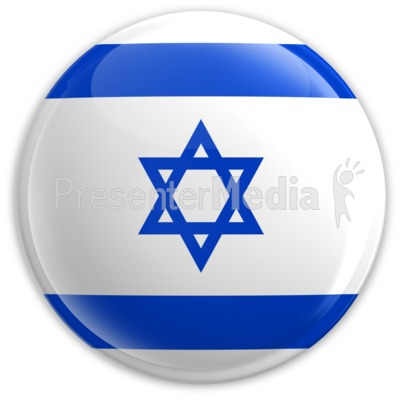 Badge of the Flag of Israel PowerPoint Clip Art