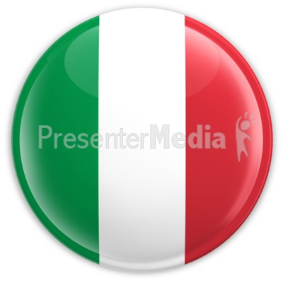 Badge of the Flag of Italy PowerPoint Clip Art