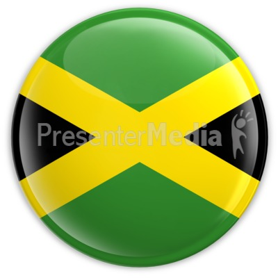 Badge of the Flag of Jamaica PowerPoint Clip Art